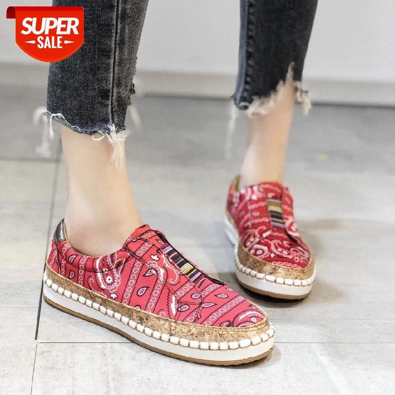 Le nuovissime donne Signore Moda Casual Mocassini Casual Scarpe romane Sneakers Piattaforma Molla Sneakers Bianco Sneakers Scarpe Tyu78 # JJ8G