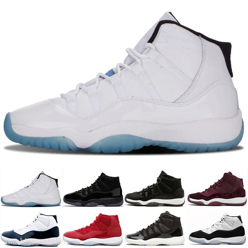 Nike Air Jordan 11 basketbol Ayakkabılar mirasçı gece bordo platin tonu pembe yılan derisi gri düşük beyaz yetiştirilen gül altın kadın ayakkabılarını soğutmak 11 11s erkek