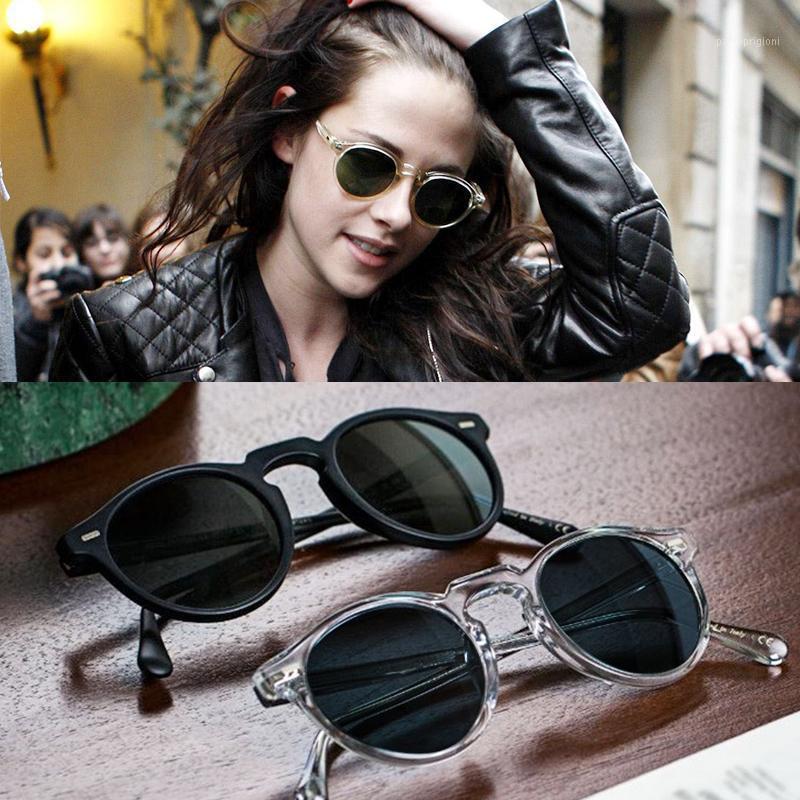 Güneş Gözlüğü Vintage Polarize Lense OV5186 Gregory Peck Temizle Çerçeve Marka Erkekler Kadınlar Sunglass Retro Gafas óculos1