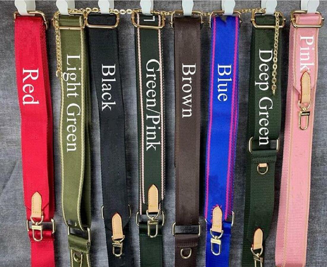 Продажа 7 цветов плечевые ремни для 3 шт. Набор дизайнеров Сумки мода Женщины Crossbody Сумка на плечо ремни старые цветочные детали