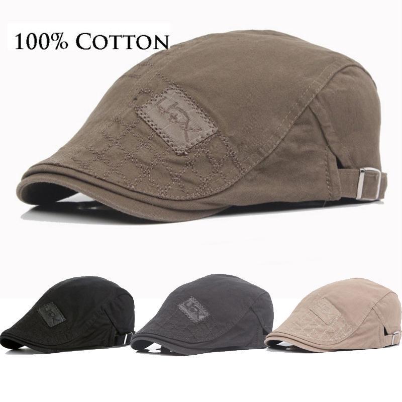 Sboy Şapkalar THEFOUND 2021 Pamuk Erkekler Bere Kap Ayarlanabilir Ivy Kovboy Şapka Golf Sürüş Yaz Düz Cabbie Caps