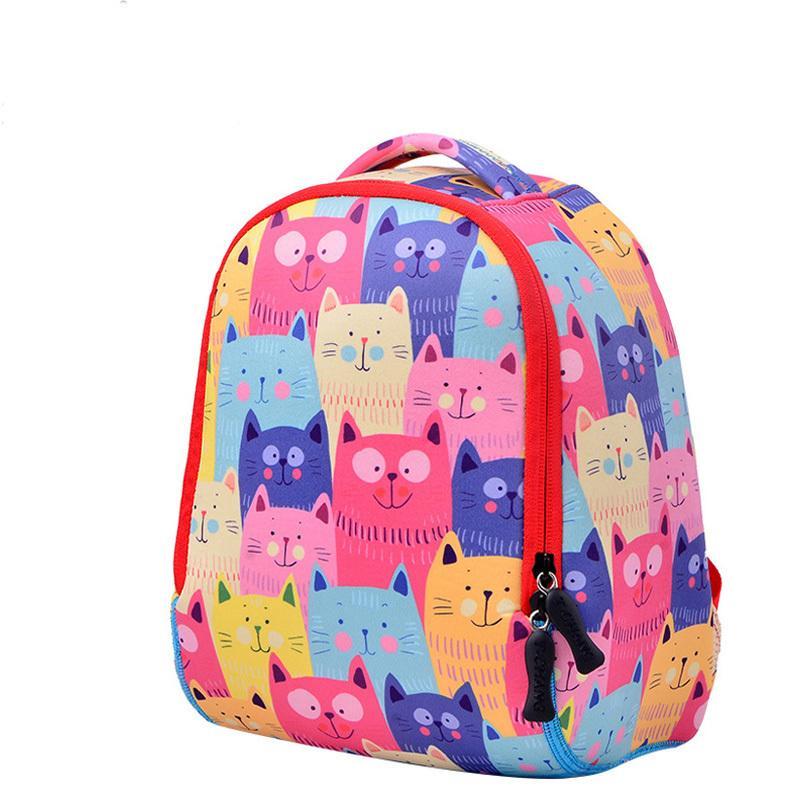 Wasserdichte Qualität Cat Schulranzen kühlen Monster-Kinder-Rucksack-Karikatur-Tier-Kind-Schule-Beutel für Junge Kleinkind Baby BagX1014