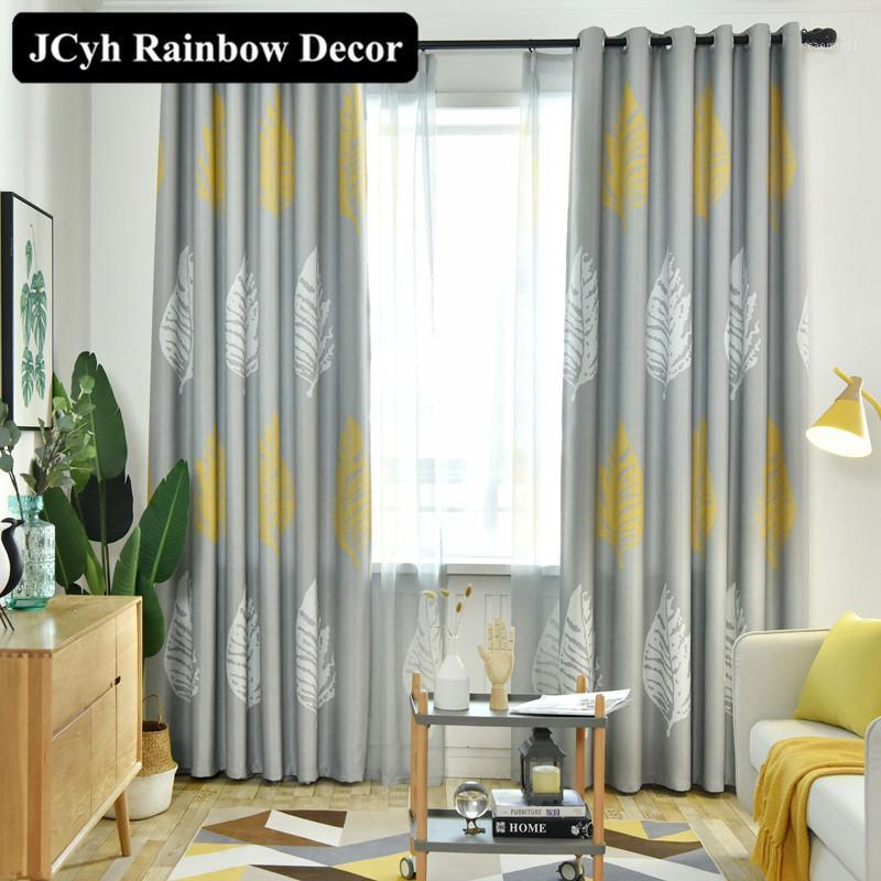 Moderna folha blackout cortinas para sala de estar cortinas de janela para quarto cozinha cortinas tecido persianas decoração de casa cortinas painel1
