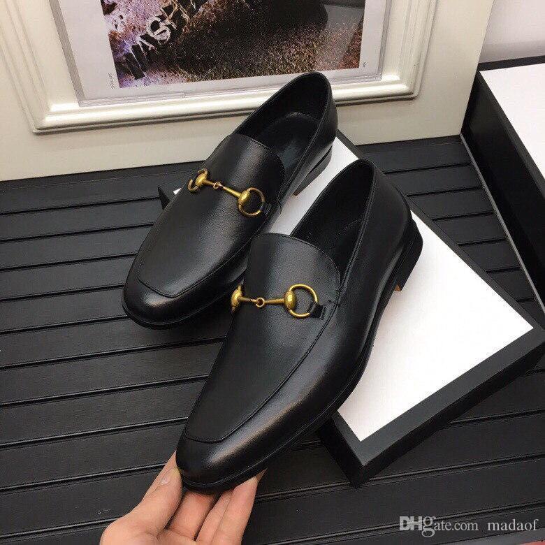 MF Handmade Mens Wedding Oxford Scarpe Black Khaki Genuine Pelle Brogue Brogue Dress Shoes Slip on business scarpe formali per gli uomini 11