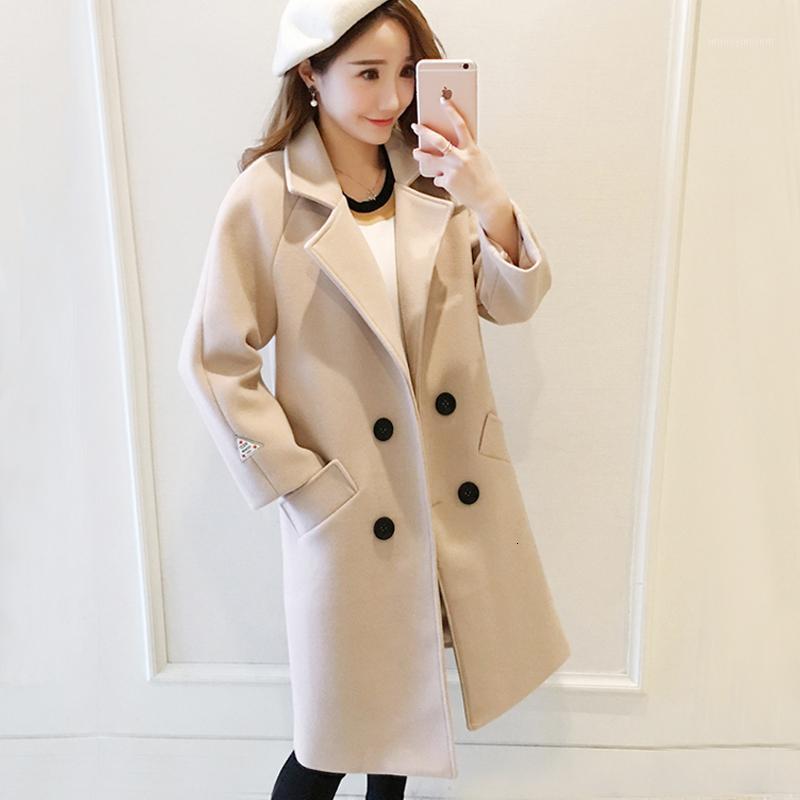 Cotton thickened fashionable women's small Korean version warm medium length show thin woolen coat winter trend1