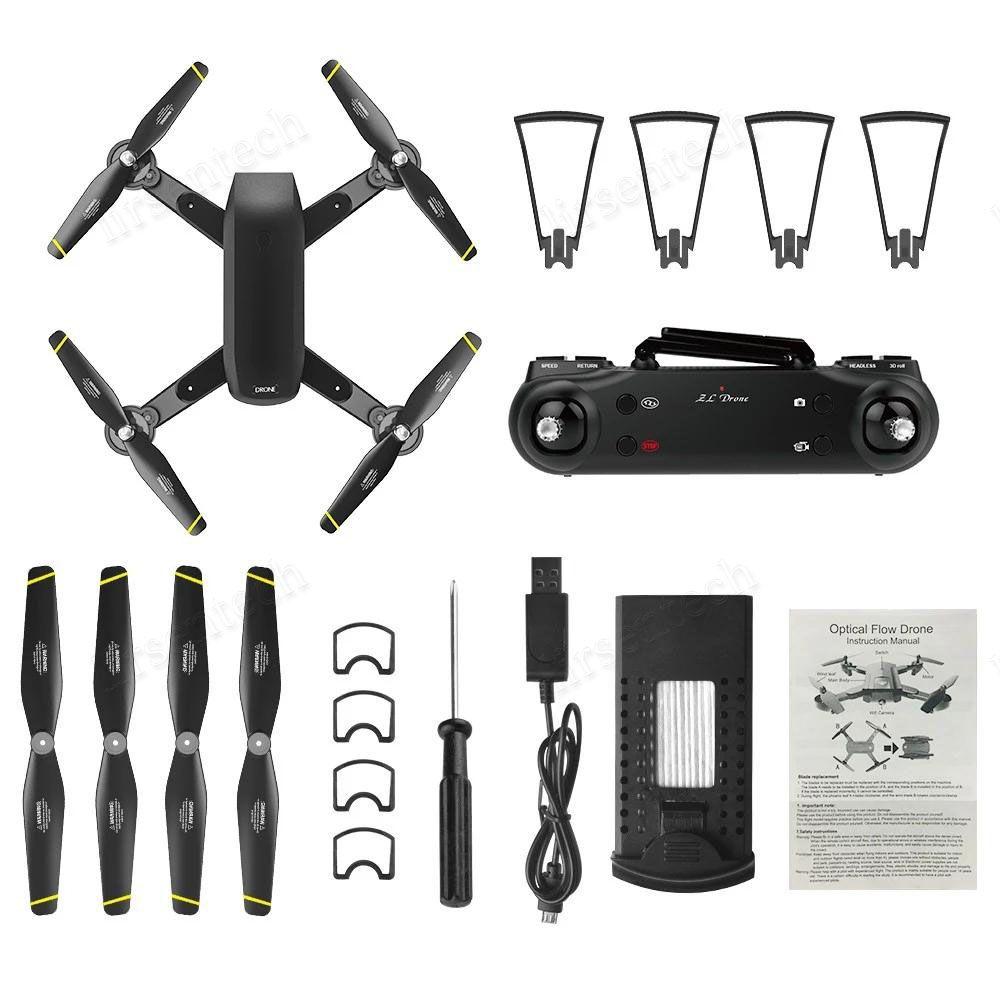 HD Quadcopter Mini Drone plegable Posicionamiento de flujo óptico Cámara de video de video Gesto de mano Sensor de control RC Último avión 4k Batería libre