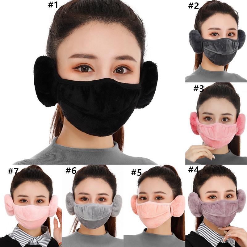 2 1 Sıcak Karşısında Earmuff'lar Windproof Bisiklet Ağız Kapak 7 Renk hava alabilir Polar maskeler kulaklık Açık Binme NWB2954 maske