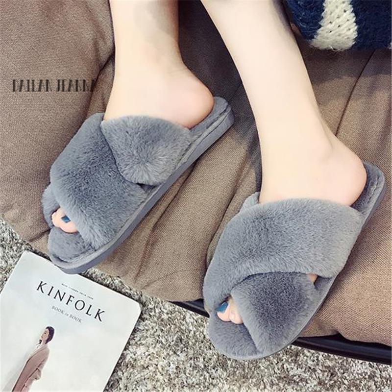 019 remorque coton femmes maison mode chaussures femmes semelle épaisse version coréenne pantoufles en laine non glissement chaud fond mou