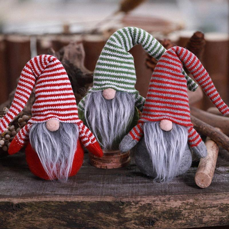 Feliz Natal sueco de Santa Gnome Plush Doll enfeites artesanais Elf Toy Casa Party Decoration caçoa o presente MsAE #