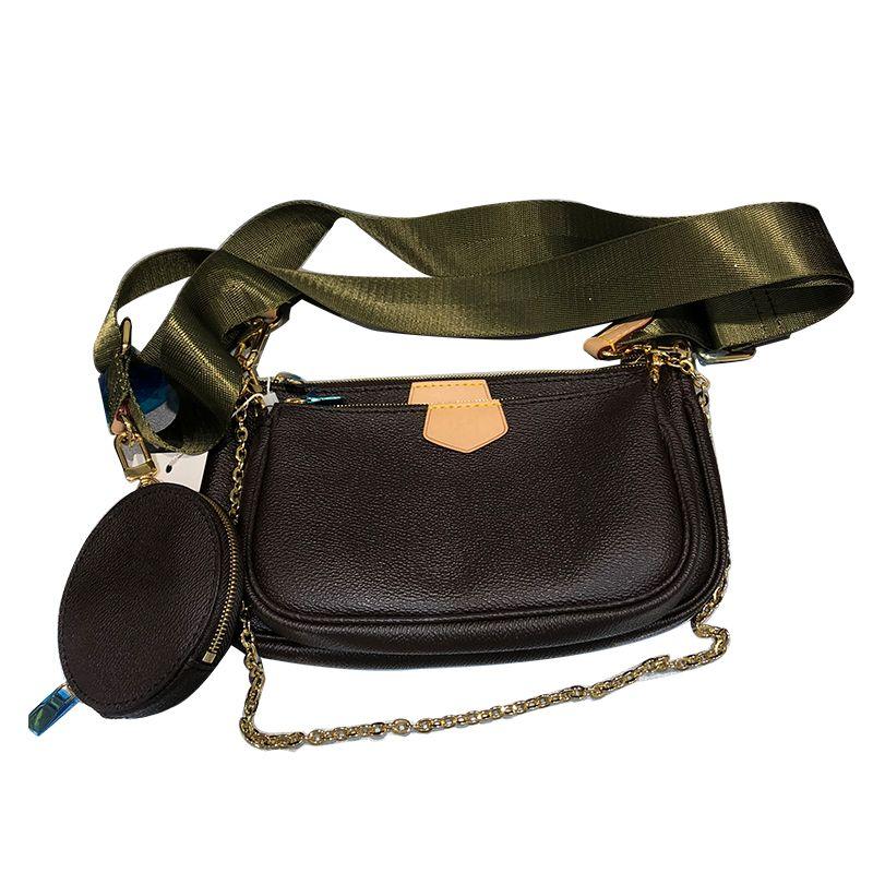 mini-pochette quente vender novas bolsas bolsa das mulheres favorito 3pc multicolor vintag crossbody sacos de ombro de couro pulseira de presente de feriado SLQ201104