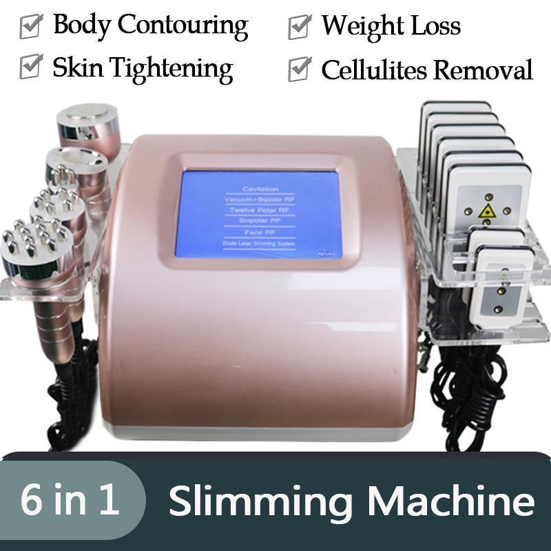 Cavitazione del corpo ad ultrasuoni Lipo laser grasso dimagrante macchina dimagrante della cellulite cavitazione radiofrequenza della pelle che serra attrezzature di bellezza 5 teste