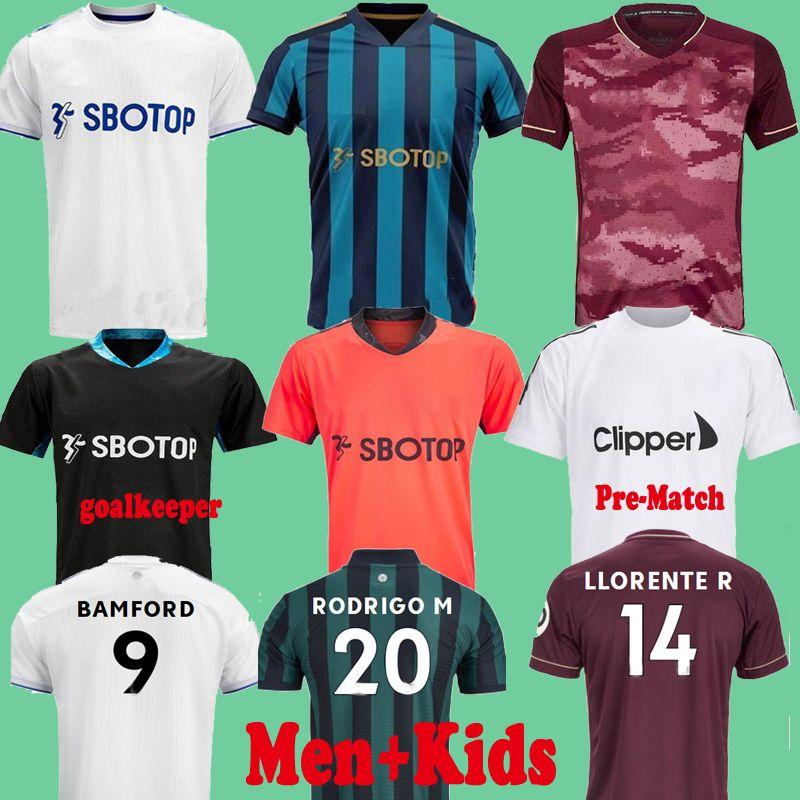 20 21 Rodrigo Leeds United  Alioski Llorente Jerseys de fútbol Tailandia 2020 2021 Phillips Costa Koch Alejar el tercer portero Camisas de fútbol 100