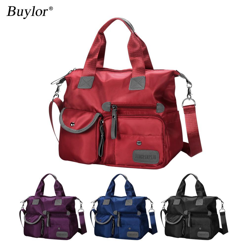 Buylor Bag para Mulheres 2020 Bolsa Senhoras Saco De Nylon Ombro Saco Impermeável Crossbody Bag Grande Capacidade Multifuncional Tote Viagem 0928