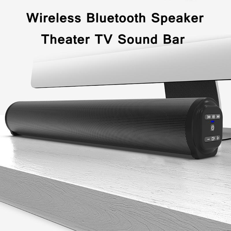 Home Theater TV Sound Bar with Subwoofer Wireless Bluetooth Speaker Soundbar for PC Computer Sound System FM Radio Boombox