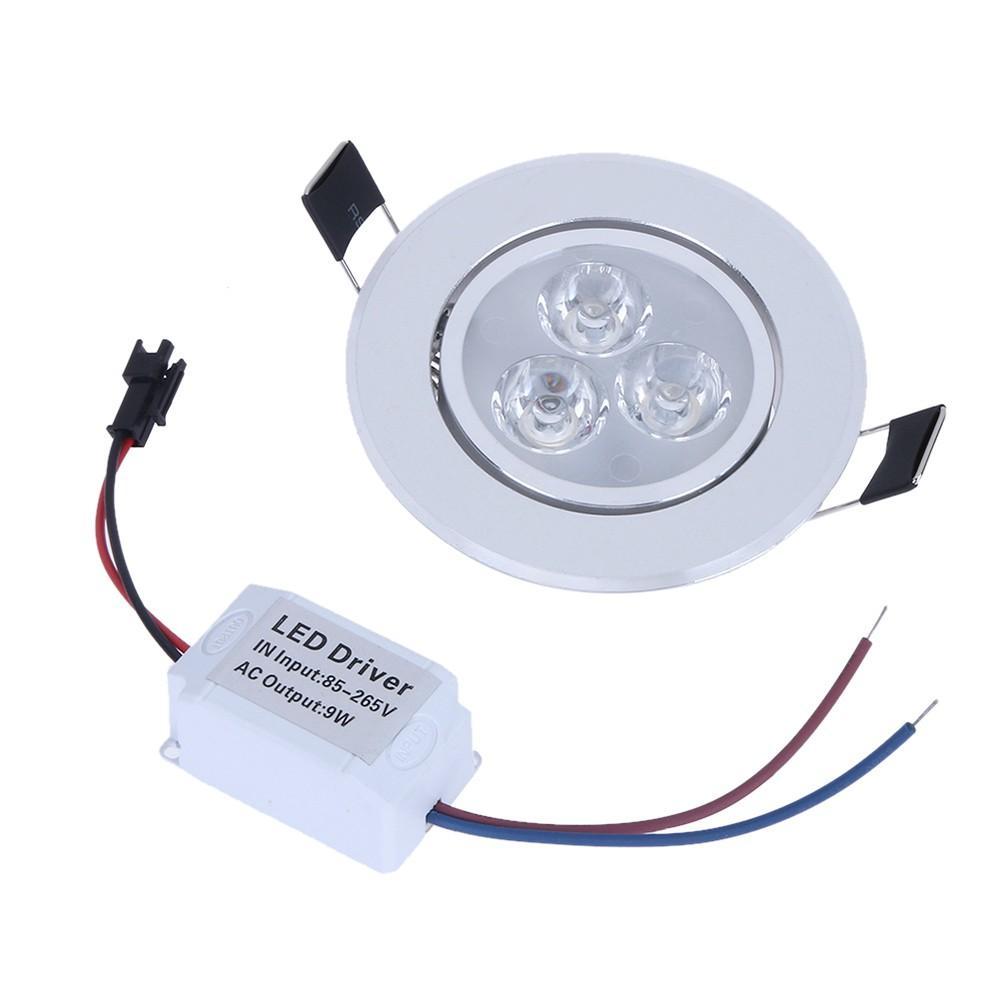 9W LED Downlight Plafing Lampada da soffitto Spot Luce incassata AC85-265V Lampada + Driver LED per illuminazione domestica (bianco)