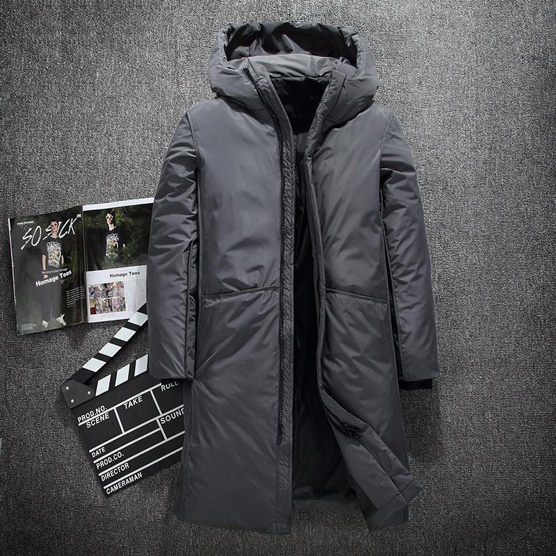 ceket M-3XL aşağı Sıcak Kalın kışlık ceket erkekler marka giyim En kaliteli X-Uzun Erkek Beyaz ördek
