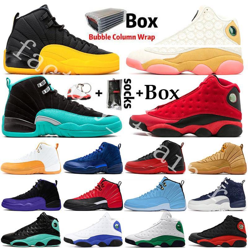 Air Jordan Retro Jumpman Üniversitesi Altın Sıcak Punch CNY Flint 12 12s Erkek Basketbol ayakkabıları Kara Kedi 13 13s Chicago Bred Taksi DMP Erkekler Spor Tasarımcı Sneakers