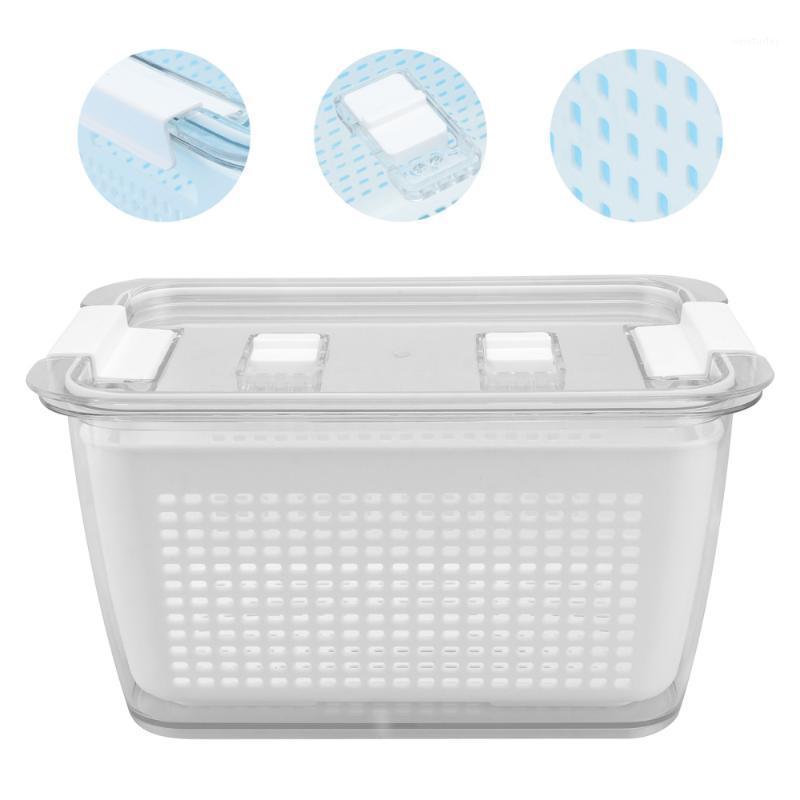 1 pc Caixa de armazenamento de cozinha de frutas Caixa de preservação vegetal drenagem1