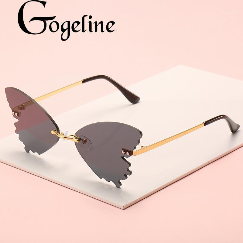 2020 Butterfly RIMLENT Солнцезащитные очки Мужчины Женщины Мода Зеркало UV400 Shades Старинные металлические Градиентные Очки Oculos Masculino Okulary1