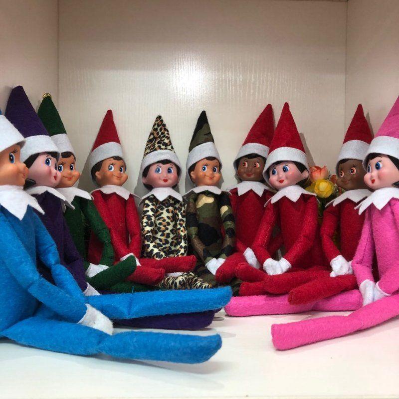 10 estilos juguetes Elf Navidad muñeco de peluche Duendes de Santa ropa de muñecas en la plataforma para la Navidad de regalo libre caliente del envío DHL freeshipping VENTA