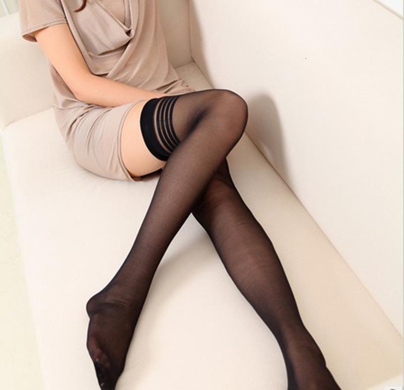 Luokou Horizontal Bar Long Tube Black Flesh Smooth Leg Repair Silk Stockings Blooming Temptation Ultra Thin Real Person Fun Pantyhose 1094
