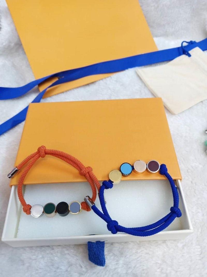 Bracelete unisex moda pulseiras para homem mulheres jóias pulseira ajustável moda jóias 4 cores