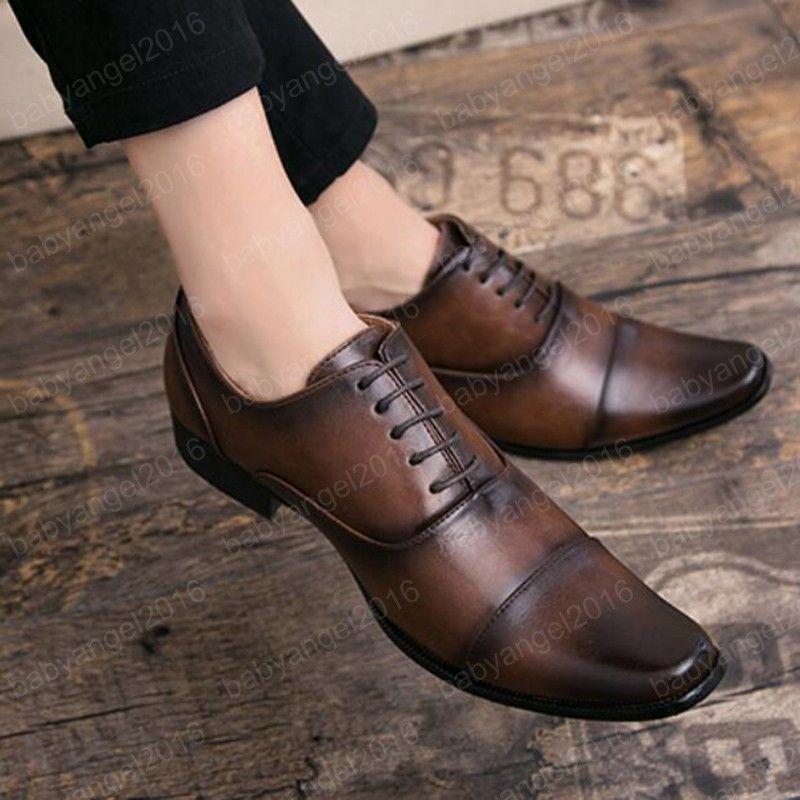 Elegante Herrenschuh Persönlichkeit Italienische Oxford Schuhe Für Männer Geschäft Gentleman Büroschuhe Männer Formale Schuhe Braun Schwarz