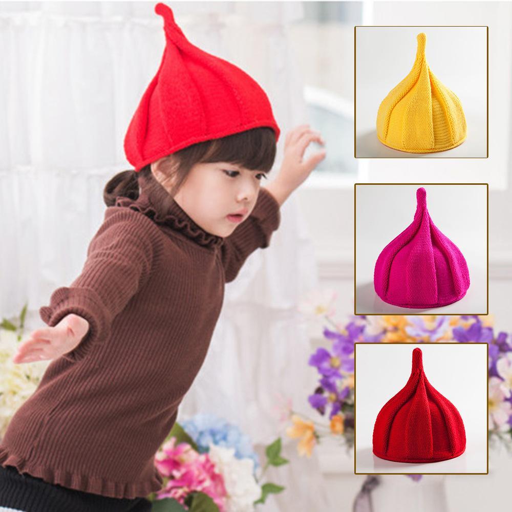 Kid punta cappello mulino a vento anguria del bambino del cappello torsione imitazione del cachemire di caramelle multicolori bambini Capo Pezzi per bambini knited cappello