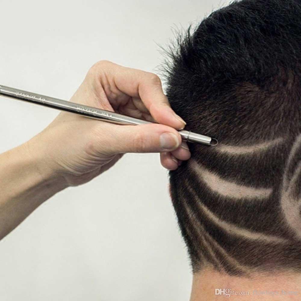 58% zniżki profesjonalne magiczne grawerowanie brody nożyczki do włosów brwi wyrzeźbić długopis tatuaż fryzjer fryzjerski nożyczki do brwi olejek głowy rzeźba