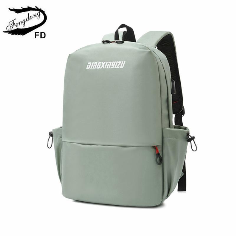 Fengdong girls school bags student fashion backpacks bookbag female waterproof travel backpack women bagpack sports backpack C0121
