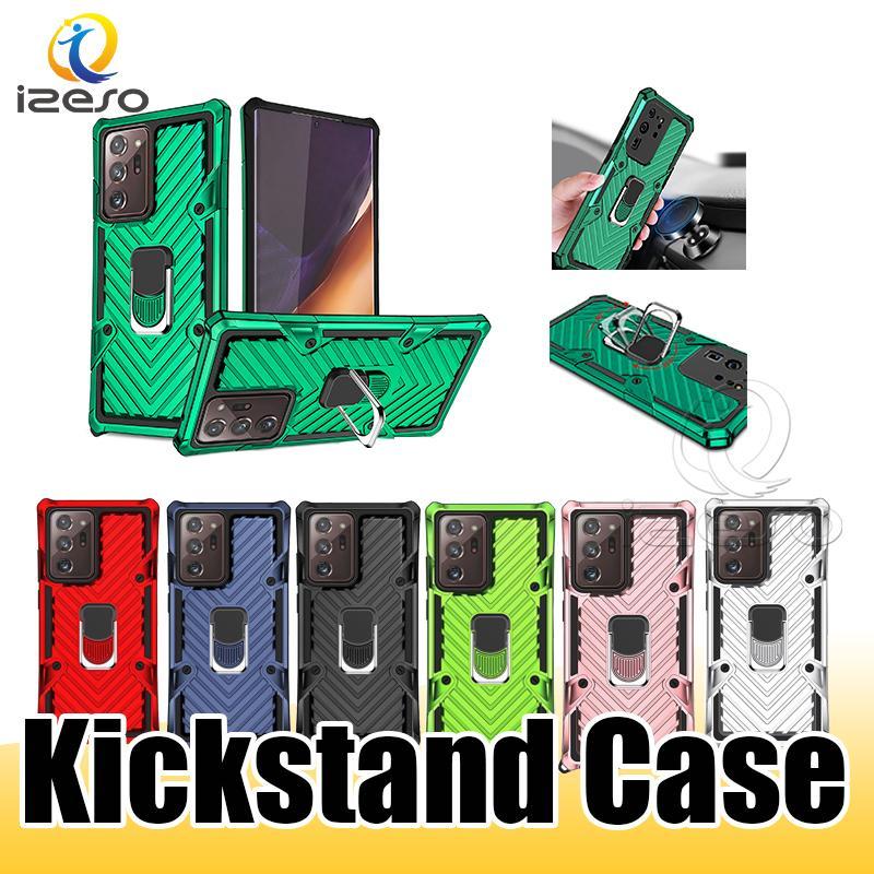 Для iPhone 12 Mini 11 Pro XS Max Samsung Note20 5G A21S A31 ТПА Kickstand сотового телефона крышка случая противоударной Защитные телефона дело izeso