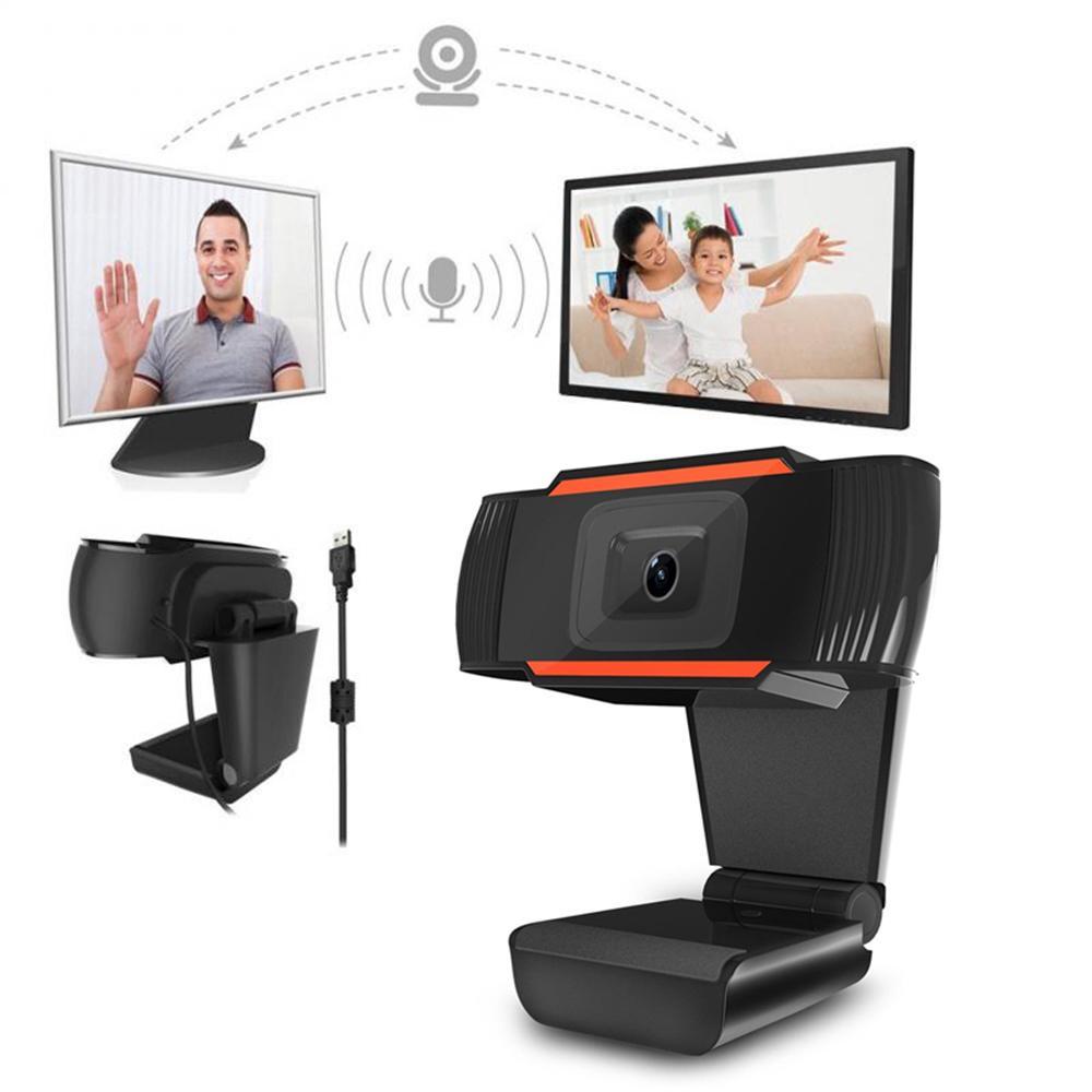 Rotatif HD Webcam PC Mini USB 2.0 Caméra Web Enregistrement vidéo haute définition avec 1080P / 720P / 480P vraies images couleur