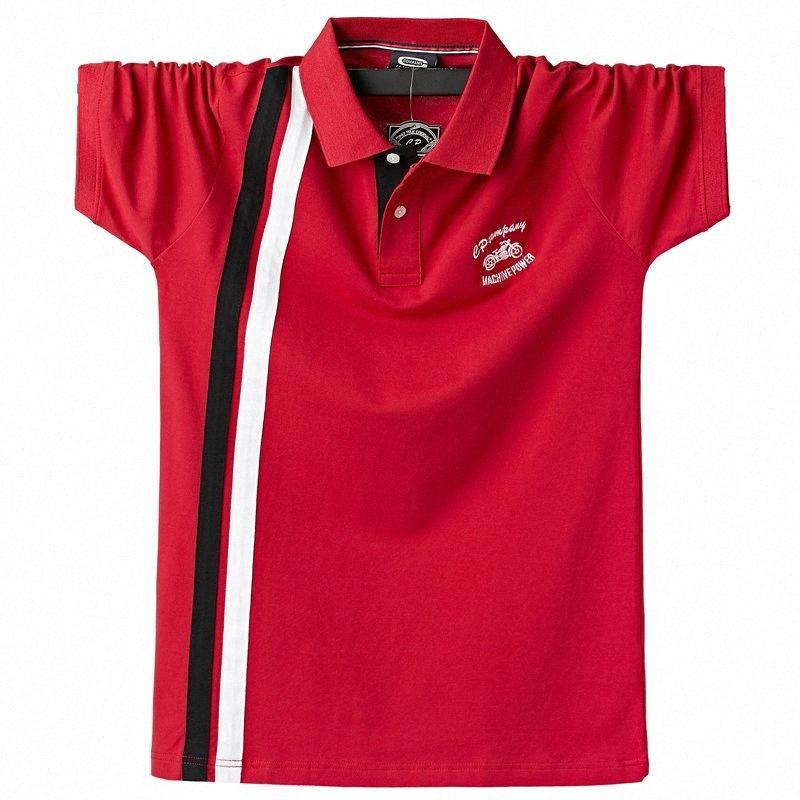 Camicia Uomo Estate manica corta 95% camicie di cotone a righe marca Uomo Abbigliamento taglie forti 5XL 6XL Smart Casual Poloshirt Ntx0 #