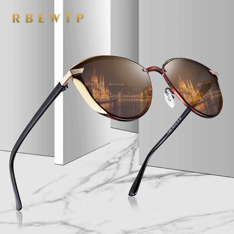 RBEWTP REDONDO GAFAS DE SOL MARCA CAT EYE DISAYER Mujer Mujeres Mujeres Moda 2020 para espejo retro gafas de sol polarizadas Vintage HKQNF