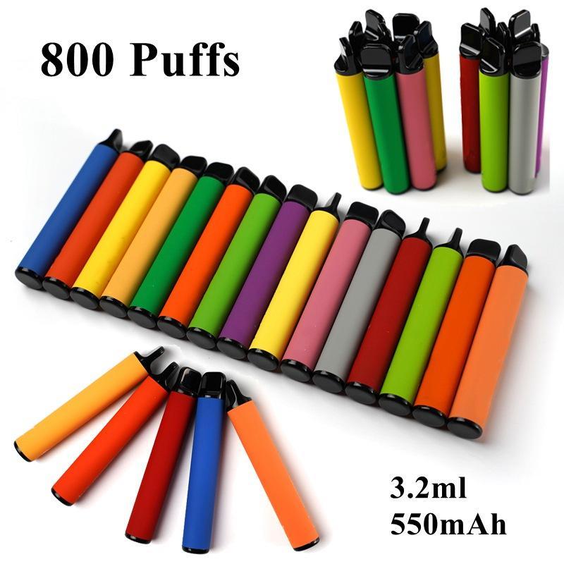 Além de descartáveis Vape Pen Starter Kit Com código de segurança 3,2ml Oil cartuchos de 550mAh Bateria vaporizador descartáveis cigarros e 40 cores