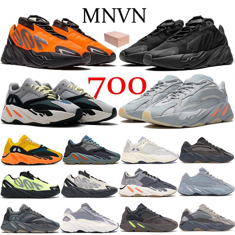 2021 عداء 700 v2 البرتقال الثلاثي الأسود الاحذية الجري الصلبة رمادي mauve الكربون الأزرق الجمود النساء الرجال المدربين أحذية رياضية