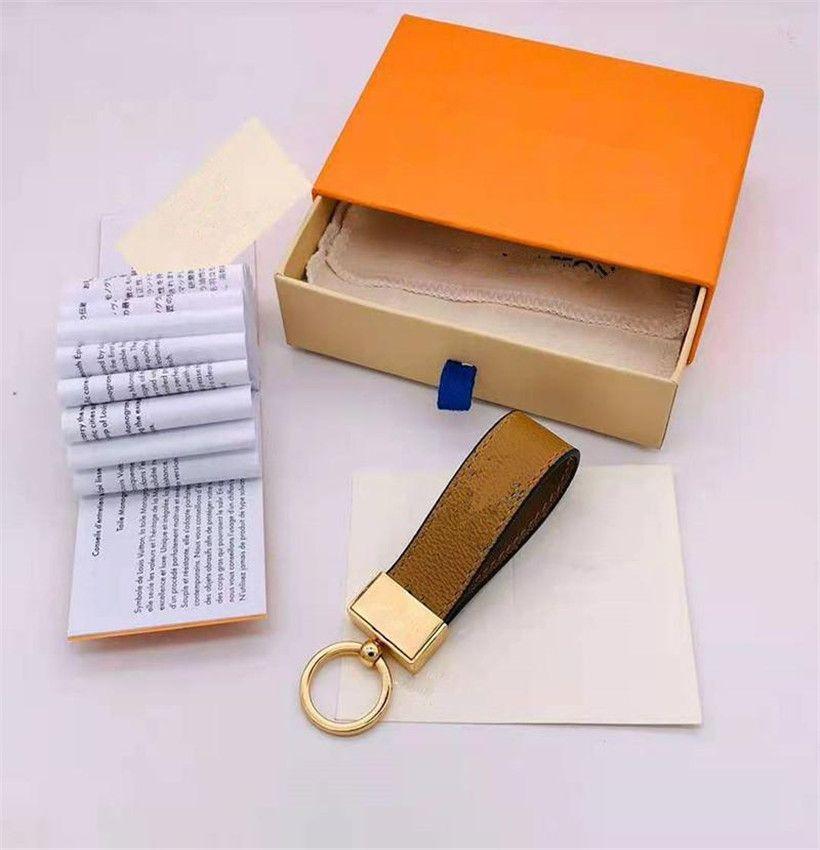 2021Luxury Keychain High Qualtiy Schlüsselanhänger Schlüsselanhänger Marken Designer Schlüsselanhänger Porte Clef Geschenk Männer Frauen Autobeutel Schlüsselanhänger mit Box