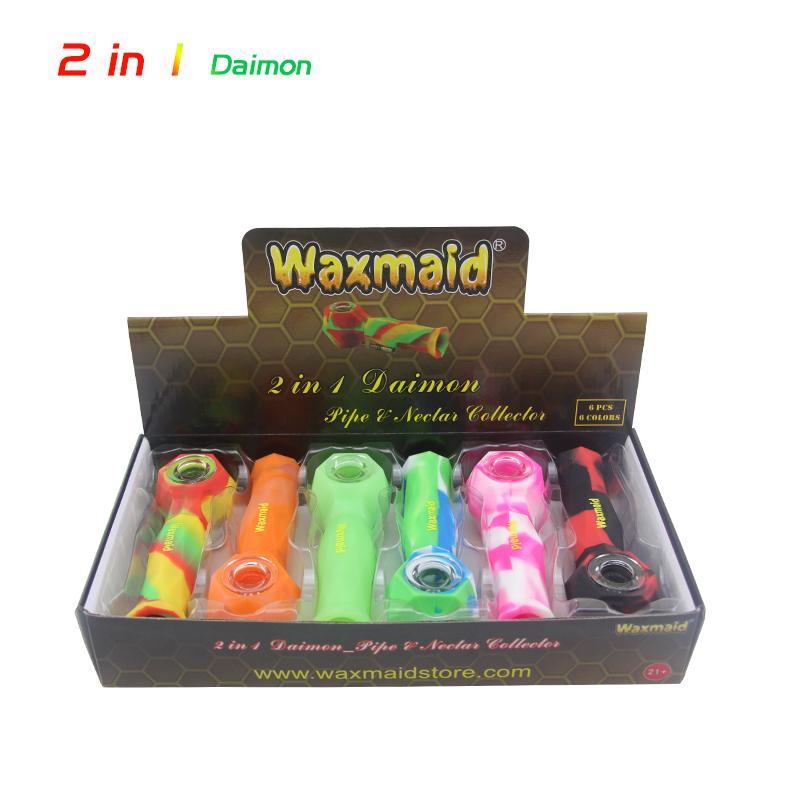 balmumu 1 kuru ot elde boru nektarı toplayıcıda 2 Waxmaid titanyum çivi ile birlikte altı renk