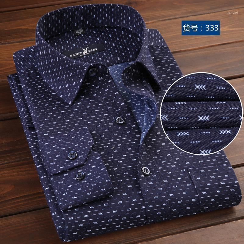 Camicie da uomo per uomo manica lunga uomo business casual camicia autunno slim fit top blusa moda stampa nuovo modello striscia color1