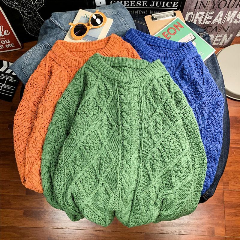Mode chaud l'hiver Pull Hommes Casual Retro Tricoté Pull hommes sauvages desserrées coréenne chandails de tricot pour hommes vêtements M-2XL