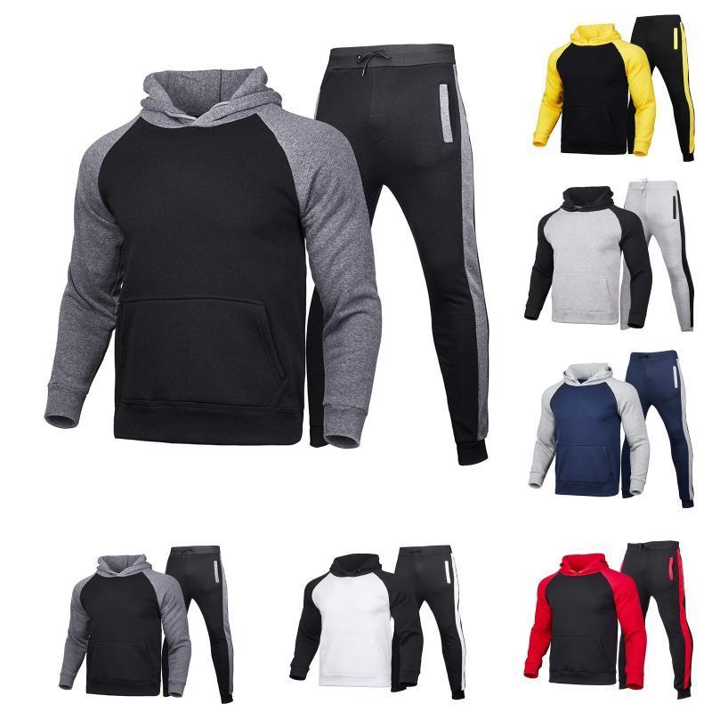 Conjuntos de hombres Conjunto de ropa de ropa deportiva de invierno Trajes de vestuario Conjunto Sudadera con pantalones de chándal largos STREEYSWEET HOMBRES DE INVIERNO PARA HOMBRES Traje de deportes