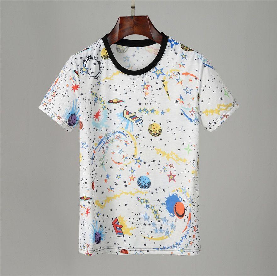 Erkek Stylist Tasarımcılar T Shirt Ekip Boyun T-Shirt Moda Baskı Erkekler Yaz Kısa Kollu Erkekler Kadınlar Lüks T Gömlek Boyutu M-3XL