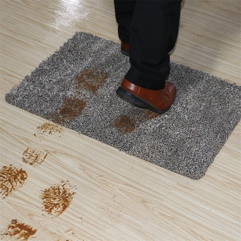 Indoor Super Absorbs Doormat Latex Backing Non Slip Mat for Small Front Door Inside Floor Dirt Trapper Cotton Entrance Rug 201214