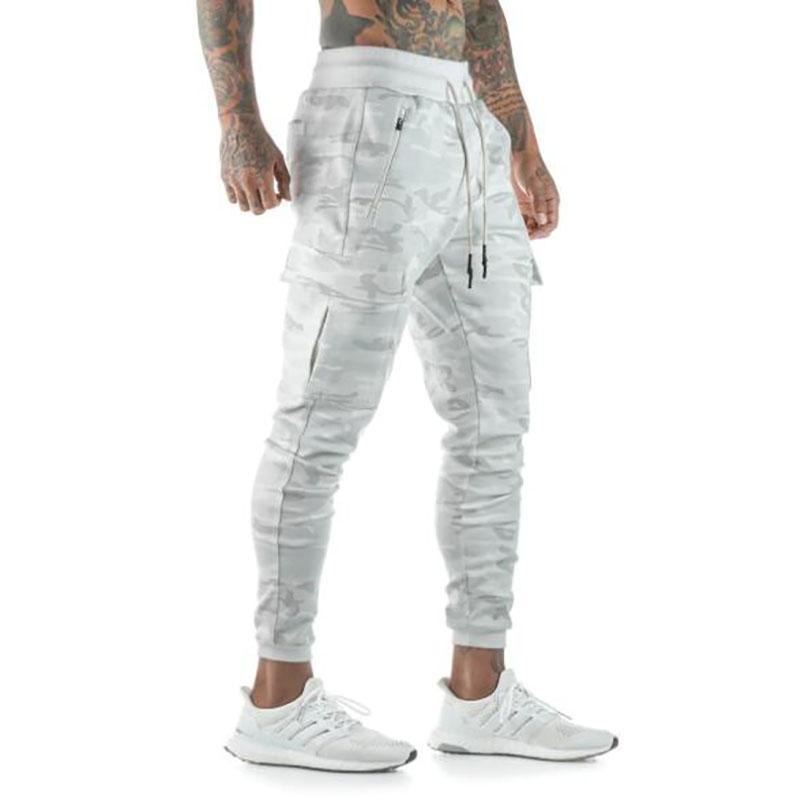 2020 New Men Joggers Brand Trousers Casual Pants Sweatpants Jogger Camouflage Casual Cotton GYMS Fitness Workout Pants