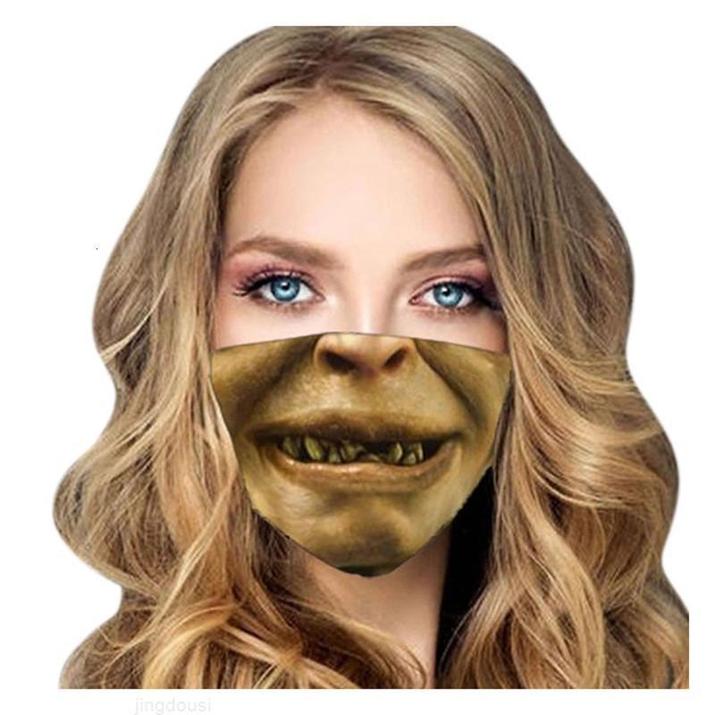 Reusável Dustproof Face Mascarilla Pano Pendurado Máscara Diária Ear Proteção 3D Ventilação Dos Desenhos Animados Respirador Engraçado Impressão 4 5WSBZA VQPRB
