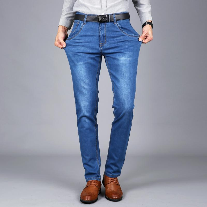 2021 New Mens Marque Jeans Mode Hommes Casual Slim Fit Straight High Terre Pieds Skinny Jeans Hommes Bleu Black Mâle Pantalon, 021