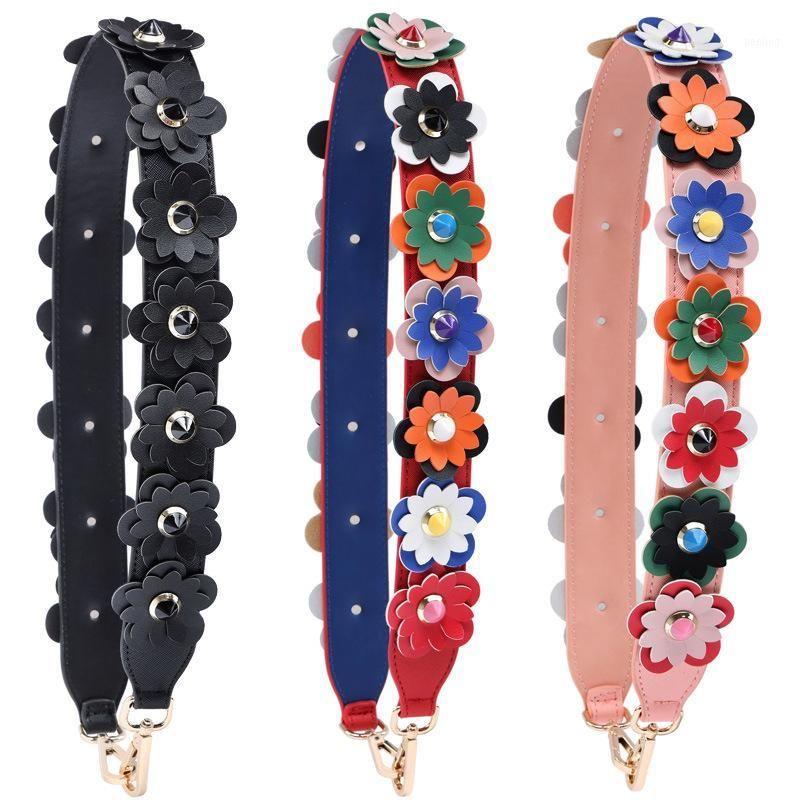Bretelles à épaules de mode fleurs colorées pour sacs Bagage Bagage Haute Qualité Poignées de cuir pour sacs à main multiples couleurs1