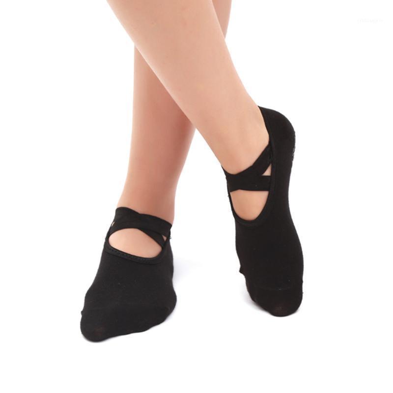 Calcetines deportivos Toe Redondo Yoga para mujeres Anti-resbaladizo Vendaje transpirable Pilates Ballet Dance Casual Girl's Backless Sports1