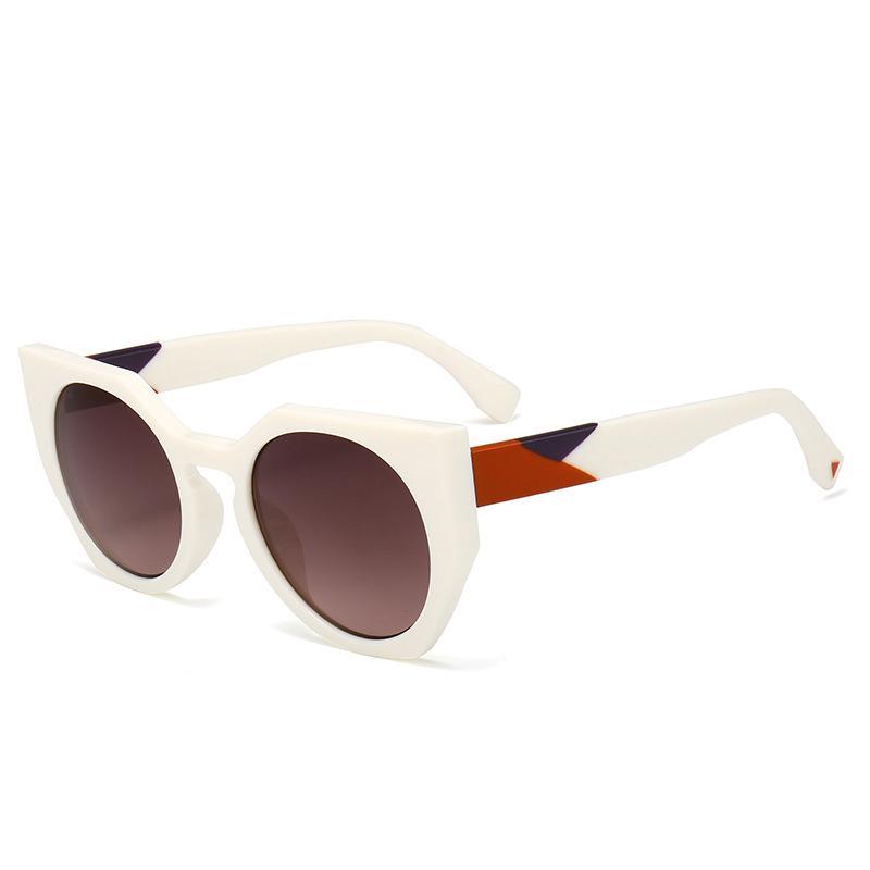 2021 Mode Nette Sexy Retro Cat Eye Sonnenbrille Frauen Vintage Marke Designer Cateye Kunststoff Sonnenbrille Für Weibliche Damen UV400