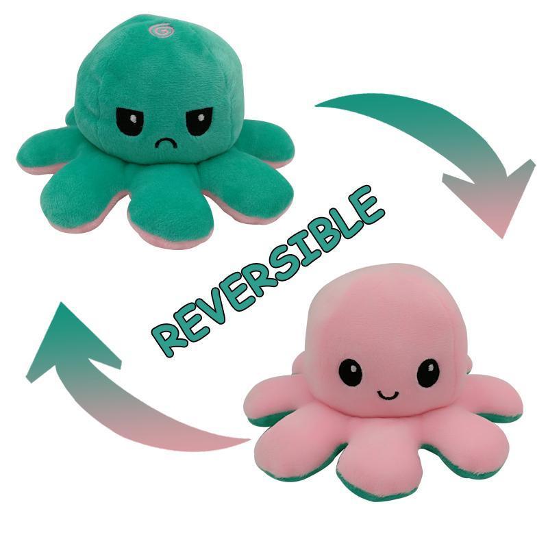 28 farben octopus kissen gefüllte spielzeug puppen weiche simulation reversibel krake plüsch puppe nette kinder kinder spielzeug dekoration jllhsm
